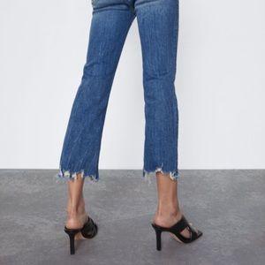 Zara Woman Premium Denim Raw Hem Size 2